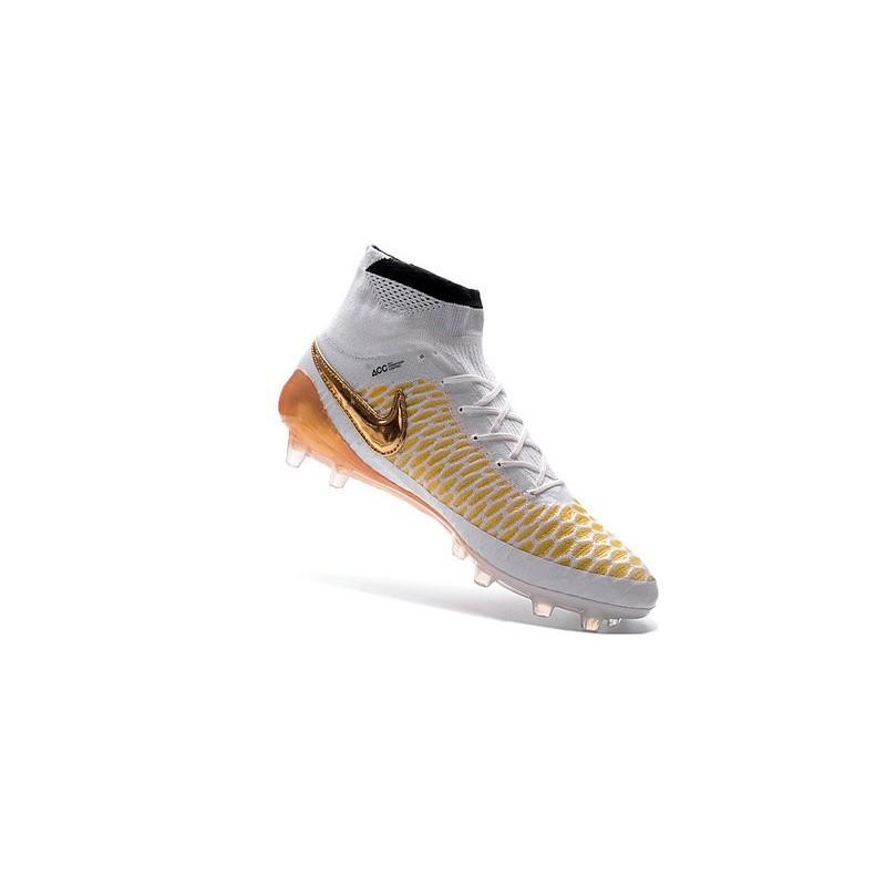 scarpe nike bianche e oro