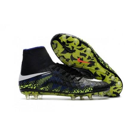 Nike HyperVenom Phantom II FG - scarpe da calcio terreni compatti -nero blu verde