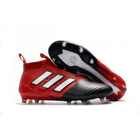 Scarpe da Calcio adidas Ace17+ Purecontrol FG Rosso Nero Bianco