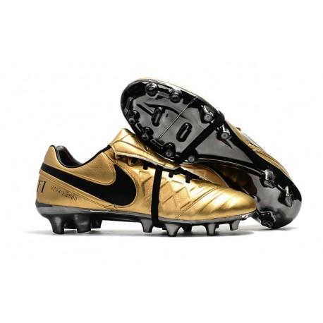 Scarpe Clacio Nike Tiempo Totti X Roma - Oro Nero