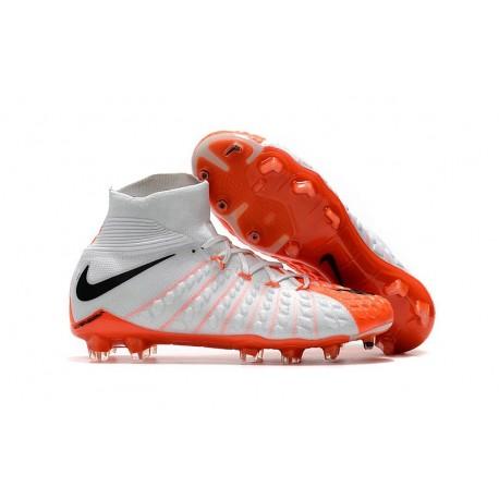 Nike Scarpe Calcio Uomo Hypervenom Phantom 3 DF FG - Bianco Arancio