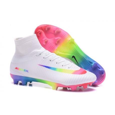 Scarpe Calcio Nike Mercurial Superfly 5 FG Bianco Colorato