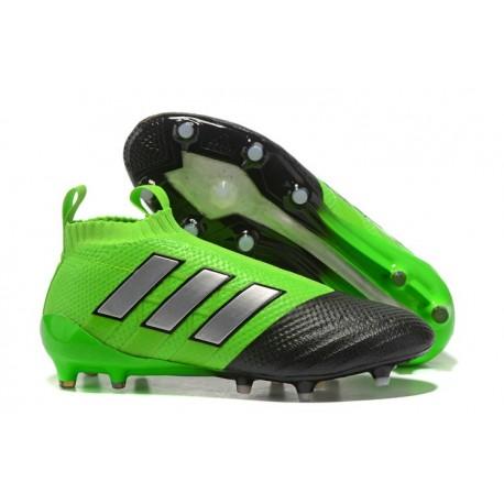 adidas Scarpe Ace17+ Purecontrol FG Uomo - Verde Nero Metal