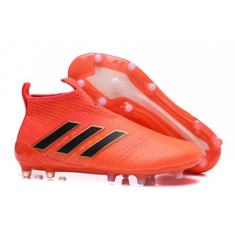 adidas Scarpe Ace17+ Purecontrol FG Uomo - Arancio Nero