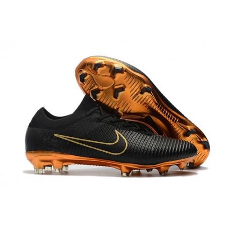 Scarpe Calcio Nuovo Nike Mercurial Vapor Flyknit Ultra FG - Nero Oro