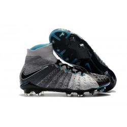 Scarpe da Calcio Terreni Compatti Nike Hypervenom Phantom III DF FG - Grigio Nero