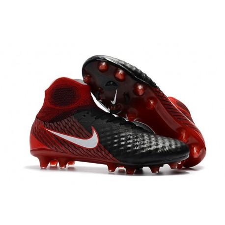 Nike Magista Obra II FG Scarpe da Calcio - Nero Rosso