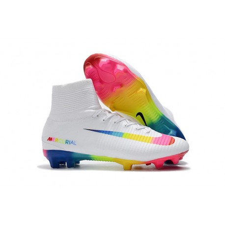Nike Mercurial Superfly 5 Dynamic Fit FG Scarpe Bianco Colorato