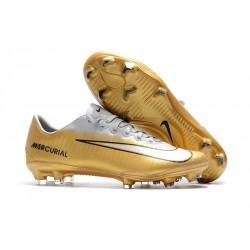 Scarpe Calcio Nuovo Nike Mercurial Vapor XI FG - Oro Bianco