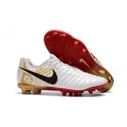 Scarpe da Calcio Nike Tiempo Legend VII FG Uomo - Bianco Nero Rosso
