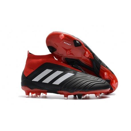Scarpe da Calcio adidas Predator 18 + FG Uomo - Nero Rosso Bianco