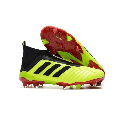 Scarpe da Calcio adidas Predator 18 + FG Uomo - Giallo Nero Rosso