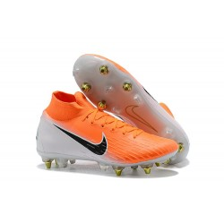 Scarpe Nike Mercurial Superfly 6 Elite SG PRO AC Arancione Bianco