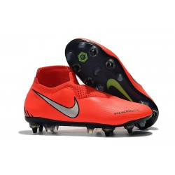 Nike Phantom Vision Elite Dynamic Fit Anti-Clog SG-PRO Rosso Argento