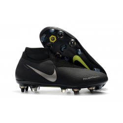 Nike Phantom Vision Elite Dynamic Fit Anti-Clog SG-PRO Nero Argento