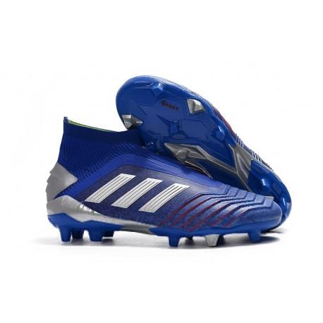 Scarpe da Calcio adidas Predator 19 + FG - Blu Argento