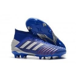 adidas Predator 19.1 FG Scarpa da Calcio - Blu Argento