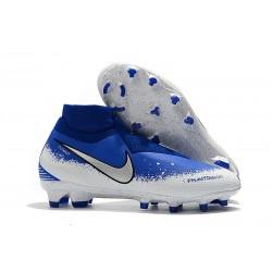 Nike Phantom Vsn Elite Df Fg Scarpa da Calcio - Blu Bianco
