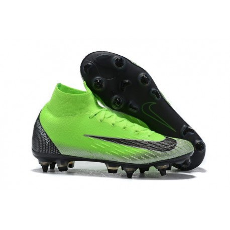 Scarpe Nike Mercurial Superfly 6 Elite SG PRO AC Verde Nero