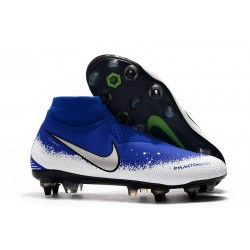 Nike Phantom Vision Elite Dynamic Fit Anti-Clog SG-PRO Blu Bianco Argento