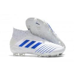 Scarpe da Calcio adidas Virtuso Predator 19 + FG - Bianco Blu