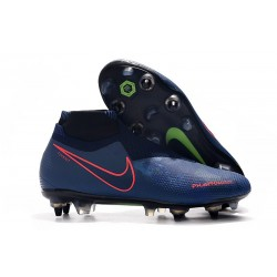 Nike Phantom Vision Elite Dynamic Fit Anti-Clog SG-PRO Blu Rojo