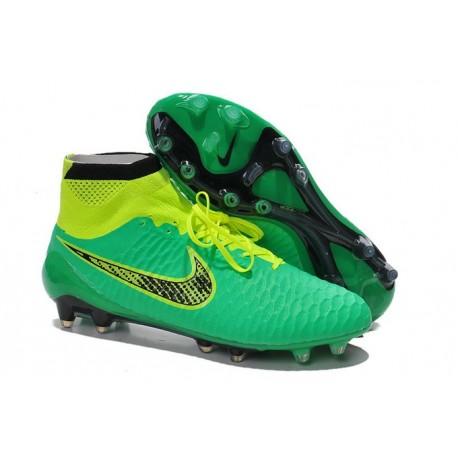 Nike 2015 Scarpini da Calcio Terreni Duri Magista Obra FG ACC Verde Nero