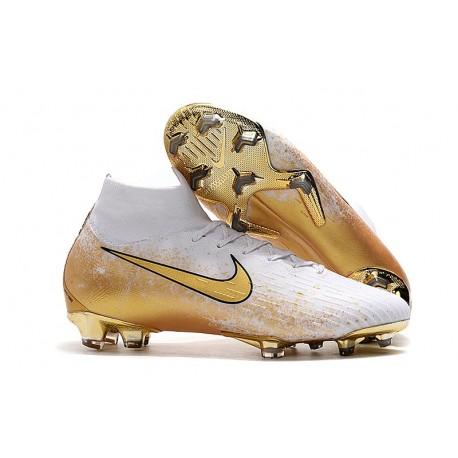 Scarpe da Calcio Nike Mercurial Superfly VI Elite FG - Bianco Oro