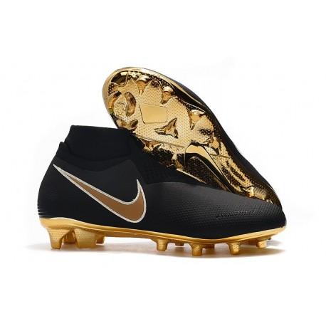 Nike Phantom Vsn Elite Df Fg Scarpa da Calcio - Nero Oro