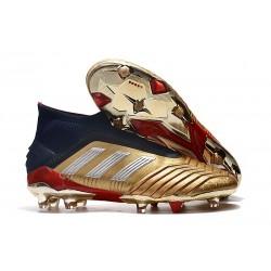 Scarpe da Calcio adidas Predator 19 + FG - Oro Argento Rosso