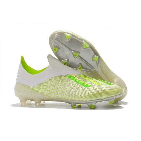 adidas X 18+ FG Scarpe da Calcio - Bianco Verde