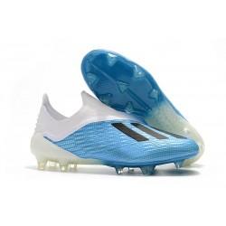 adidas X 18+ FG Scarpe da Calcio - Blu Bianco Nero