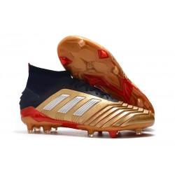 adidas Predator 19.1 FG Scarpa da Calcio - Oro Rosso Argento