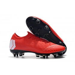 Scarpe da Calcio Nike Mercurial Vapor 12 AC SG-Pro Rosso Bianco