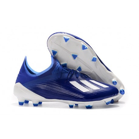 adidas X 19.1 FG Scarpe da Calcio Blu Bianco