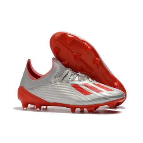 adidas X 19.1 FG Scarpe da Calcio Argento Rosso