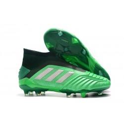 Scarpe da Calcio adidas Predator 19 + FG - Verde Argento
