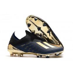 Scarpe da Calcio Adidas X 19+ FG Nero Oro Blu