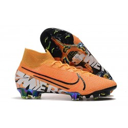 Scarpe Nike Mercurial Superfly VII Elite FG - Arancione Bianco