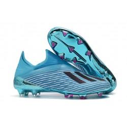Scarpe da Calcio Adidas X 19+ FG Ciano Nero