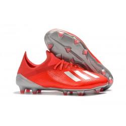 adidas X 19.1 FG Scarpe da Calcio Rosso Argento