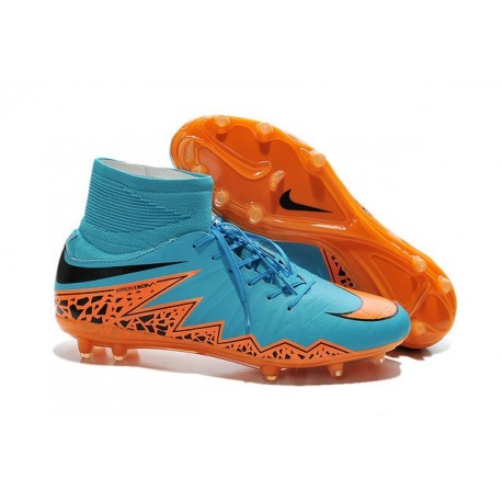 Scarpe da Calcio 2015 Nike Hypervenom Phantom II FG Blu Arancio Nero