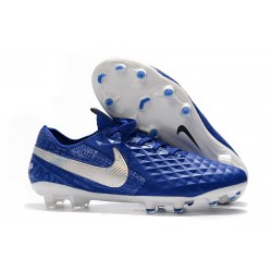 Scarpa Nuovo Nike Tiempo Legend 8 Elite FG Blu Bianco