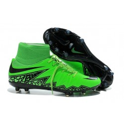 Scarpe da Calcio 2015 Nike Hypervenom Phantom II FG Verde Nero