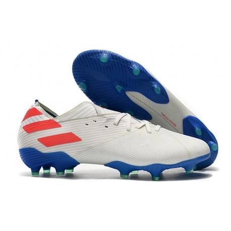 Scarpe adidas Nemeziz 19.1 FG - Bianco Blu Rosso