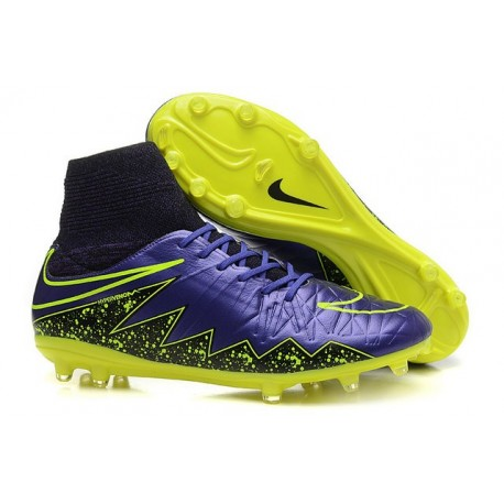 Scarpe da Calcio 2015 Nike Hypervenom Phantom II FG Viola Giallo Nero