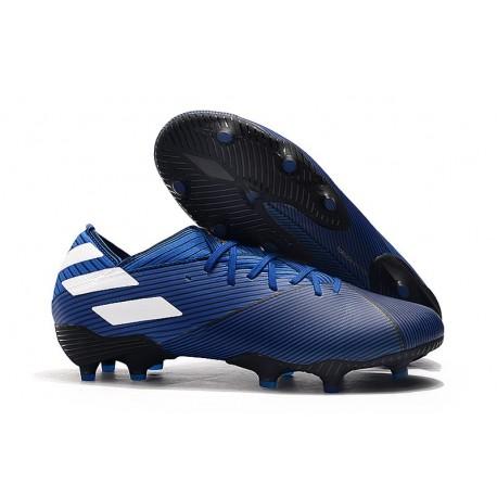 Scarpe adidas Nemeziz 19.1 FG - Blu Bianco