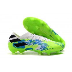 Scarpe adidas Nemeziz 19.1 FG - Bianco Verde Blu