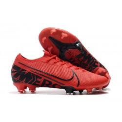 Scarpe da Calcio Nike Mercurial Vapor 13 Elite FG Rosso Nero
