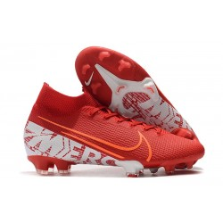 Scarpe Nike Mercurial Superfly VII Elite FG - Rosso Bianco
